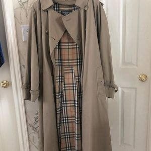 Vintage Burberry Trench Coat Men's 44L